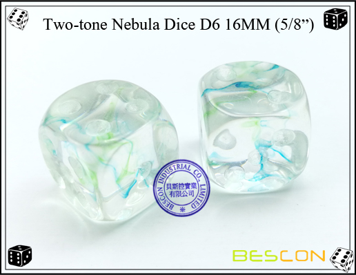 Two-tone Nebula Dice D6 16MM-4