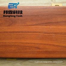 Building material wood grain designed aluminum door sheet