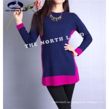 Suéter de cachemira de las mujeres con Intarsia Csw15082103