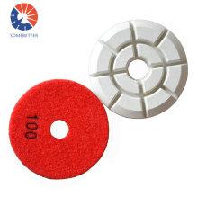 "4"" Dry Wet Granite Diamond Polishing Pads for Angle Grinder"
