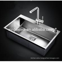 Handmade Topmounted Zero/Round Radius 16G/18G Stainless Steel SUS 304 kitchen Sink