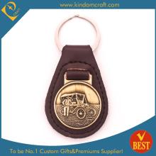 Porte-clés / porte-clés en cuir personnalisé ou porte-clés avec pièces métalliques