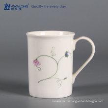 Home bone china frühstück milchbecher / elegant china keramik kundengebundene tassen mit logo