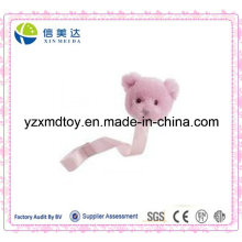 Pink Plush Teddy Pacifier Clip for Babies