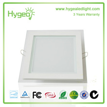 Square 6W12W18W PF 0.95 CRI80 Glass LED Panel Light
