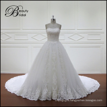 Modern White Wedding Dresses Cathedral Train