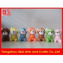 Cute colorful mini plush bear clip,teddy bear clip plush animal