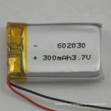 Alta qualidade Li-Polymer 300mAh 3.7V Lipo Battery 3.7V 602030