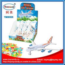 Großhandel billig Kunststoff neue Spielzeug Flugzeug Fahrzeug Spielzeug mit Süßigkeiten