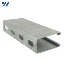 Venda quente galvanizado suporte canal entalhado, preço de aço c canal
