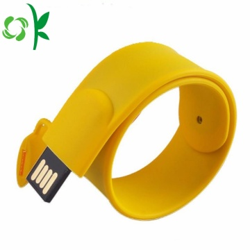 Mode Silicone USB Flash Drives Slap Bracelet / Bracelet