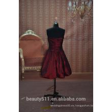 En stock Vestido de fiesta sin mangas corto del vestido del baile de fin de curso del hombro del hombro del vestido SE02