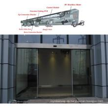 Gehärtetes Glas Edelstahl-Abdeckung Hotel Automatische Schiebetür