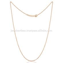 20 polegadas Latão Metal Handmade Link Chain 18K banhado a ouro melhor projetado para você