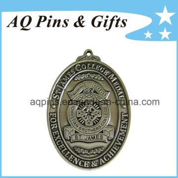 Medalhas de liga de zinco St James sem cor