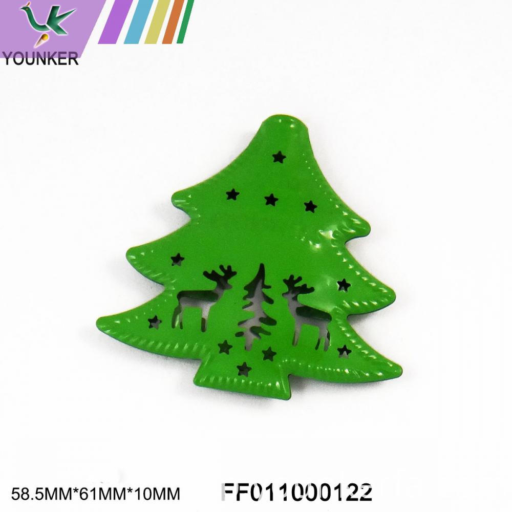 Green Tree Metal Ornament