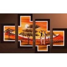 Home Decor Afrikanische Kunst Ölmalerei (AR-150)