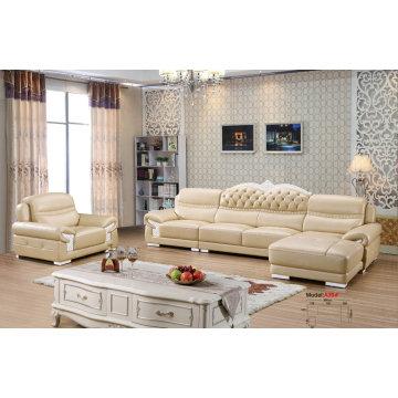 Nuevo sofá de cuero clásico, sofá de Europa (A39)