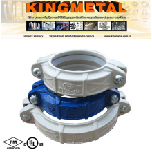 """FM/UL Approved 4"""" Ductile Iron Galvanized Flexible Coupling."""