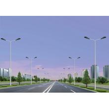 Dual-Arm Galvanized Street Light Steel Pole