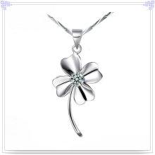 Collar de cristal Joyería de plata 925 joyas de plata esterlina (NC0022)