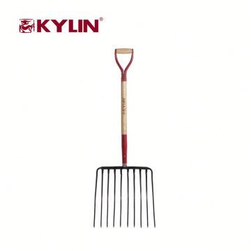 Heavy Duty Digging Tool Pitchfork de jardín con material de acero al carbono