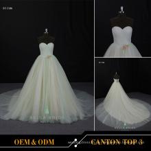 Frauen Kleider Partei lange Hochzeit Abend große Ball Brautkleider einfache Brautkleid