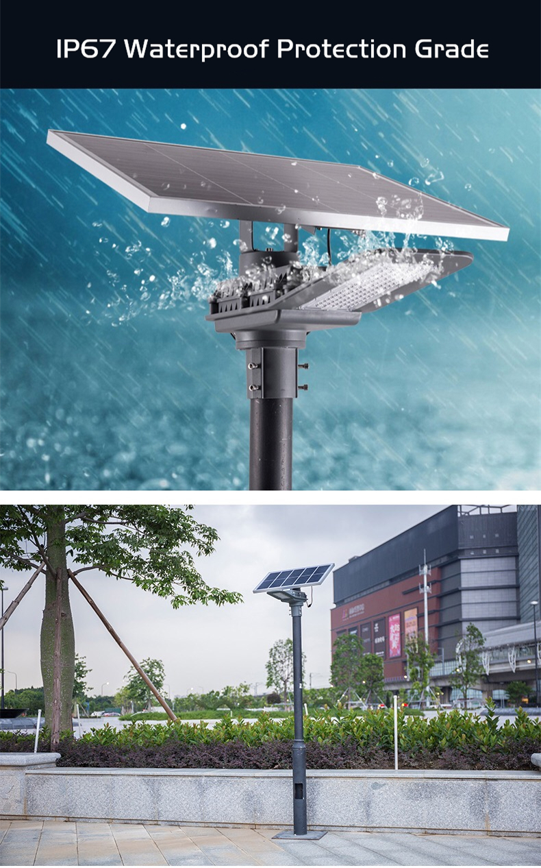 DE-SNF lithium battery solar street light delight eco energy