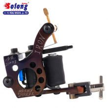 Solong M826 Tattoo Supply 10 Wraps Cobre puro hecho a mano Iron Coil Tattoo Machine Gun
