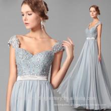 Wholesale Good Quality New Cheap Lace formal Cap Sleeve Beach Long Bridesmaid Dress LB37
