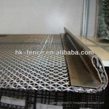 Treillis métallique ondulé galvanisé plongé chaud / tissu vibrant d'écran