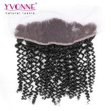 Virgin Human Hair Malaysian Curly Lace Frontal