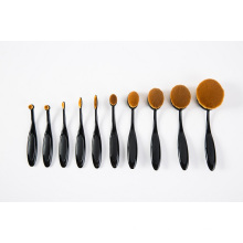 New 10PCS Oval Tooth Shape Soft Synthetic Hair Makeup Brush Kit