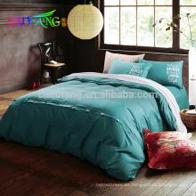 Juego de cama de algodón 800TC proveedor de Amazon / ropa de cama de lujo para hotel