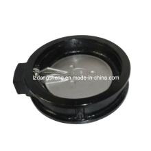 Обратный клапан поворотного типа с пружинным диском