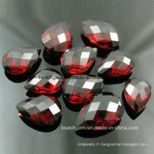Mode bijoux facettes grenat pierres précieuses en vrac (SEMI001)