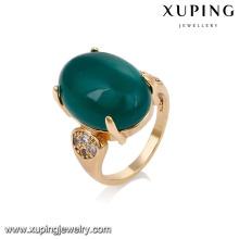14716 xuping jewelry 18k anillo de dedo de diseño de moda chapado en oro para las mujeres