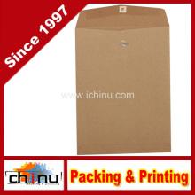 Open End Recycling-Umschläge mit Verschluss - Brown Kraft Papiertüte (220109)
