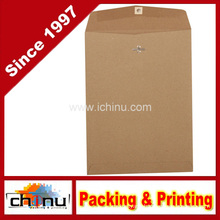 Open End Recycled Envelopes with Clasp - Brown Kraft Paper Bag (220109)