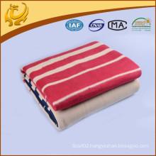 Chinese Factory New Style Wholesale Stripe Jacquard Cotton Fleece Blanket