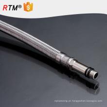 J17 3 aço inoxidável tubo trançado ss304 fio trançado teflon fole fio trançado metal tubo corrugado