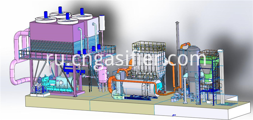 rice shell gasifier
