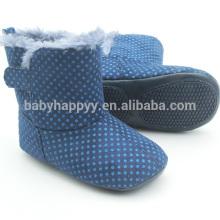 El niño lindo azul de los cargadores del bebé ocasional de los zapatos de los muchachos embroma cargadores al por mayor