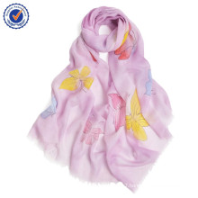 2016new arrival SWC877 pure cashmere scarf Women scarf wholesale Chinese traditional hand painted scarf