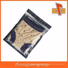 Plastic clear aluminium ziplock bag for underwear packaging