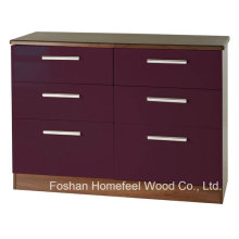 Sufficient Storage 3+3 Drawers Cabinet Dresser Chest (HC18)