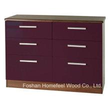 Armazenamento suficiente 3 + 3 Armário de armário de armário de gaveta (HC18)