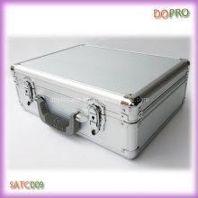 De plata caja de herramientas de plástico duro rayado ABS (satc009)