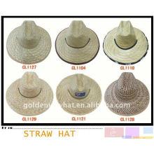 Chapéu de vaqueiro mexicano de palha de moda