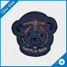 Lovely Bear Design Fabric Label for Kids Garment/Bag